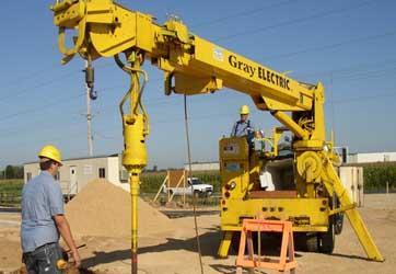 Light Pole Base Installation from Gray Electric of Tomah and Mauston, WI